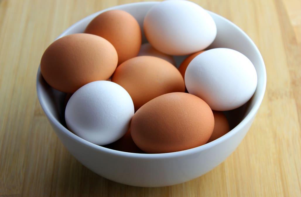 kahverengi beyaz yumurta